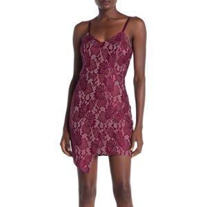 Bailey Blue Metallic Lace Mimi Dress